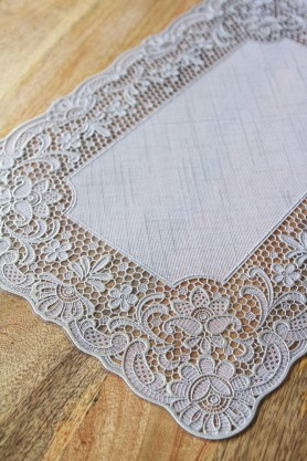Set Of 4 Outdoor Crochet Placemats - Silver