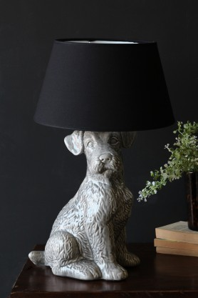 Rufus The Ceramic Terrier Table Lamp