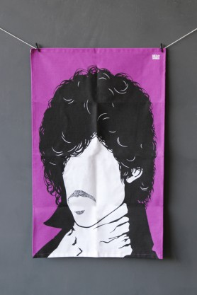Rock Icon Tea Towel - Prince