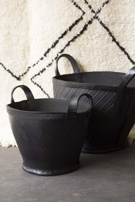 Recycled Rubber Bucket Planter - Available in 2 Sizes