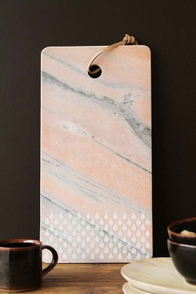 Rose Tinted Teardrop Marble Chopping Board