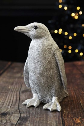 Samuel The Silver Penguin Coin Bank