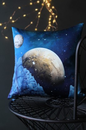 Luna Rock Silk Cushion by Elli Popp