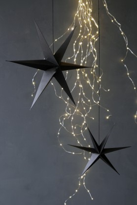 Set of 2 Black Star Decorations