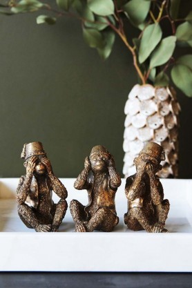 Three Wise Monkey Ornaments