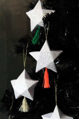 Set Of 6 Hanging Star Gift Box Decorations