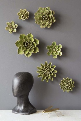 Set Of 7 Flower Wall Sculpture