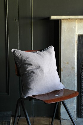 Lisbon Soft Linen Cushion - Grey