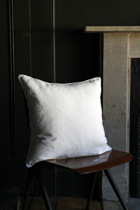 Lisbon Soft Linen Cushion - White
