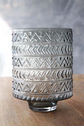 Zig Zag Hurricane Tea Light Holder