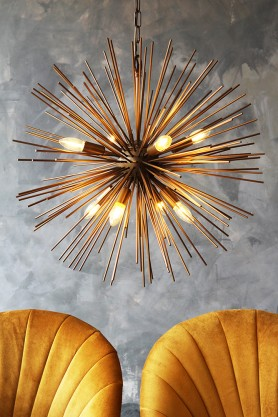 Starburst Brass Beam Pendant Lamp