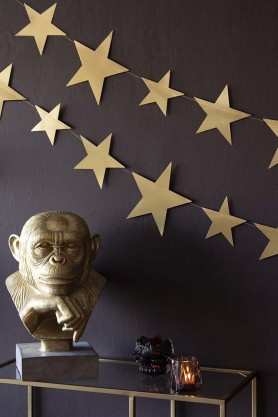 Shimmering Gold Star Garland