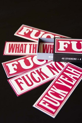 Fuck Typography Stickers