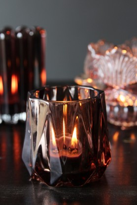 Cognac Tea Light Holder