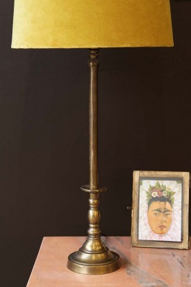 Traditional Candlestick Style Antique Bronze Table Lamp Base