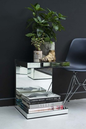 Venetian Mirrored U Side Table