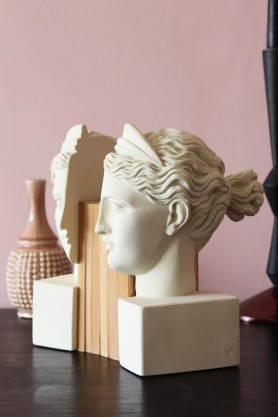 White Artemis Bookends