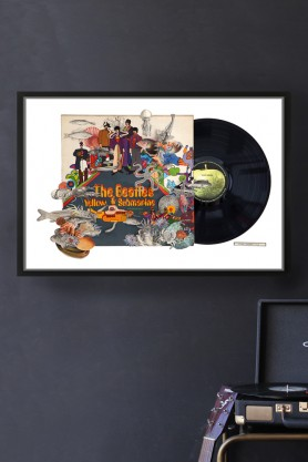 The Beatles Yellow Submarine Record Cover Collage by Alison Stockmarr