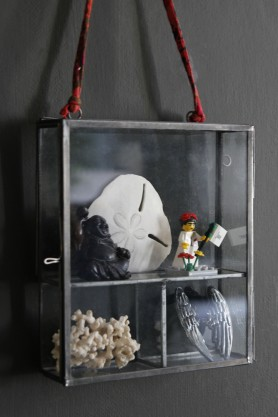 Hanging Zinc Framed Glass Display Box