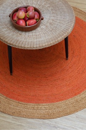 Faro Round Jute Rug - 4 Colours Available