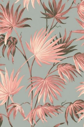 Swatch detail image of the Va Va Frome Blush Eau De Nil Wallpaper by Pearl Lowe