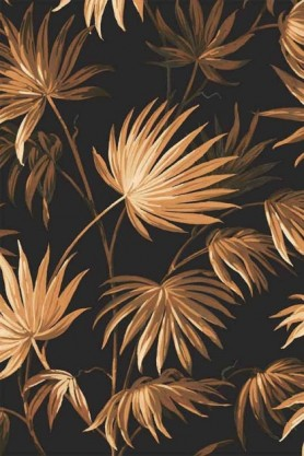 Swatch detail image of the Va Va Frome Noir Black Wallpaper by Pearl Lowe