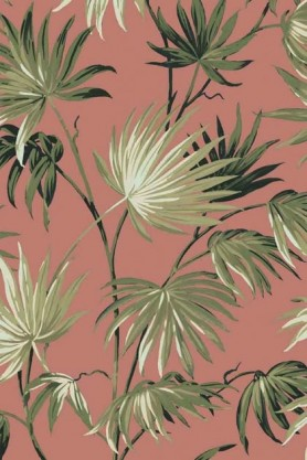 Swatch detail image of the Va Va Frome Powder Pink Wallpaper by Pearl Lowe