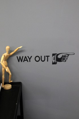 Way Out Wall Sticker - Various Colours Available