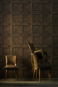 Andrew Martin Engineer Collection - Regent Oak Wood Panelling Wallpaper - 2 Colours Available
