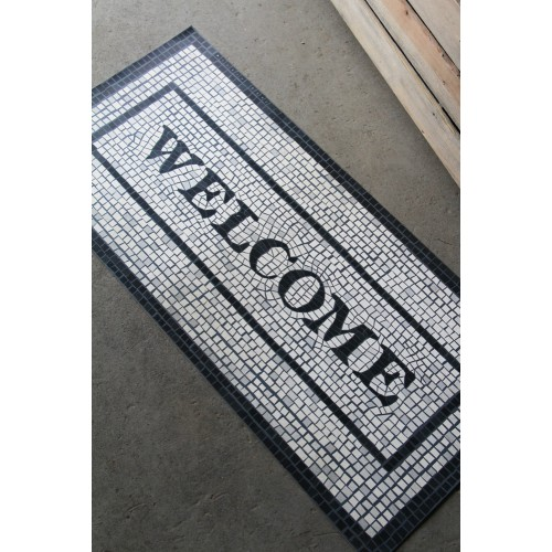 Vinyl Mosaic Welcome Mat