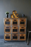 9 drawer wooden storage chest of drawers lifestyle image
