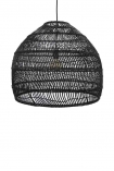 Giant Black Wicker Dome Ceiling Light