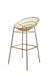 Hampstead Gold Bar Stool