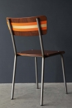 Contemporary Hand-Painted School Chair - Charlotte's Locks Orange & Gold