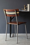 Contemporary Hand-Painted School Chair - Exclusive Rockett St George Black & Gold