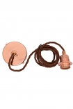 Image of the E27 Copper Flex & Fitting Set With Shade Ring on a white background cutout image