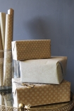Set Of 15 Sheets Of Hand Made Glitter Gift Wrap - White