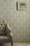 Barneby Gates Wallpaper - Boxing Hares - Stone