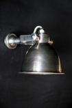 Fabulous Wall Light - Antique Silver on black background side view