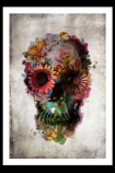 Unframed Flower Skull Fine Art Print