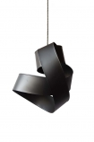 cutout image of Black Twisted Ribbon Ceiling Light on white background