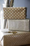 Set Of 15 Sheets Of Hand Made Glitter Gift Wrap - Silver