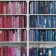 Mr Perswall Wallpaper - Communication Collection - Library-Colourful Knowledge - Pink/Blue P131502-4