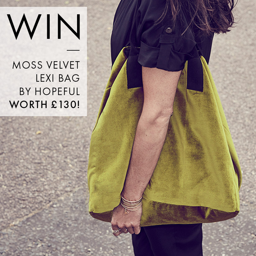 WIN: Moss Velvet Lexi Bag By Hopeful - Worth £130!