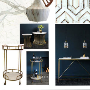 #RSGSTYLE: MOODBOARD MONDAY - MARBLE & BRASS