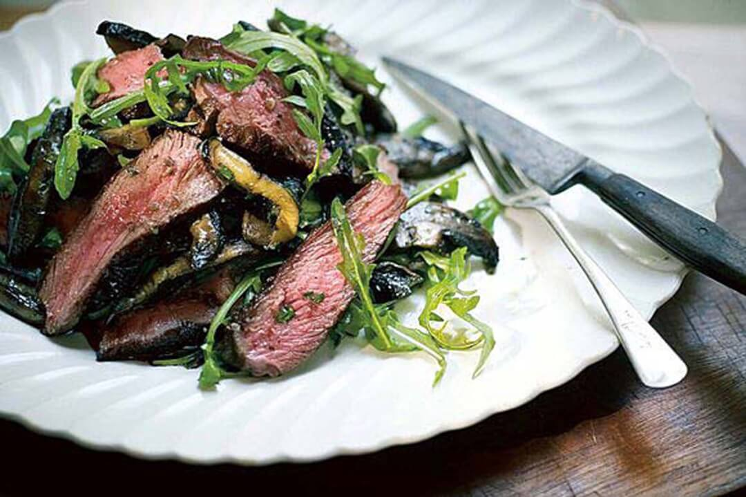 Flank Steak with Portobello Mushrooms