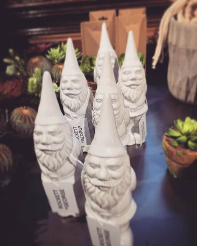 The little Santa Gnomes available to our Liberty Pop Up. [Image via @morticiaolga on Instagram]