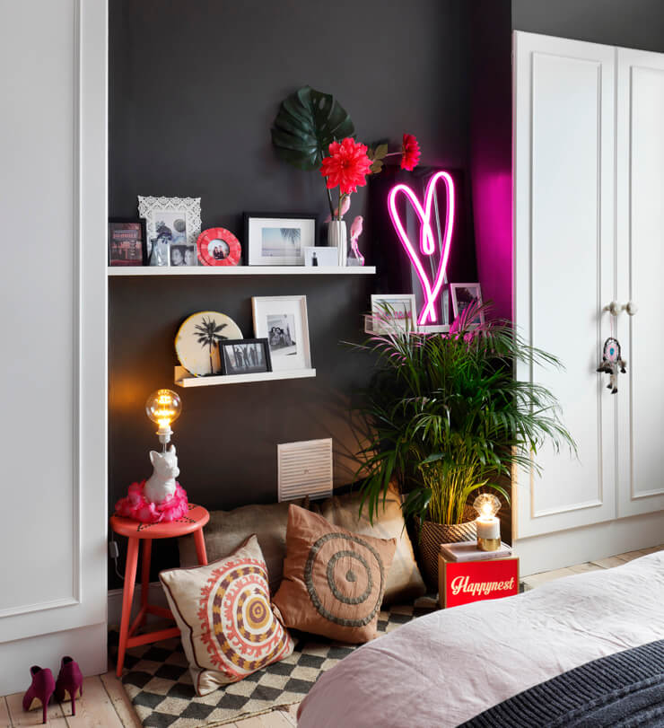 Lucy St George's daughter, Ella, bedroom in Living Etc Magazine.