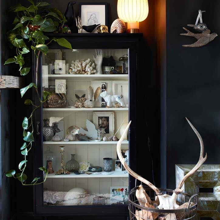Co-founder Jane Rockett's cabinet of curiosities.As featured in Rockett St George:Extraordinary Interiors.