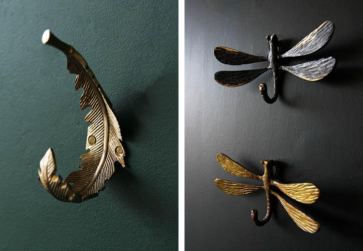 The Rockett St George Grace Feather Hook,Antique Black Dragonfly Hookand theBrass Dragonfly Hook.